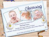 Invitation Card Design for Baptism Personalised Christening Invitations Personalised