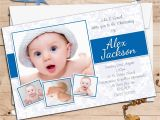 Invitation Card for Baptism Of Baby Boy 10 Personalised Boys Christening Baptism Photo Invitations N97