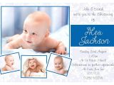 Invitation Card for Baptism Of Baby Boy Baptism Invitations for Boys Blank Baptismal Invitation