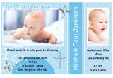 Invitation Card for Baptism Of Baby Boy Invitation Card Christening Invitation Card Christening