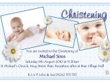 Invitation Card for Baptism Of Baby Boy Invitation Card for Christening Invitation Card for