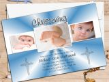 Invitation Card for Baptism Of Baby Boy Personalised Christening Invitations Personalised