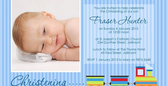 Invitation Card for Baptism Of Baby Boy Template Baptism Invitation for Baby Boy