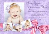 Invitation Card for Baptism Of Baby Girl Purple Baptism Invitation Pretty Pink Baby Girl