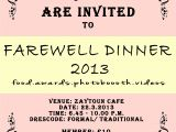 Invitation Card for Farewell Party to Seniors Farewell Invitation Cards for Senior Students Various