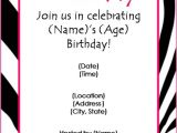Invitation Cards for Party with Words Free Birthday Party Invitation Templates for Word