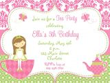 Invitation Cards for Party with Words Tea Party Invites Party Invitations Templates