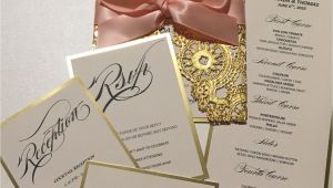 Invitation Cards for Quinceanera Gold Invitation Card Save the Date Invitation Quinceanera
