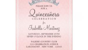 Invitation for A Quinceanera Glam Tiara Quinceanera Celebration Invitation Zazzle Com