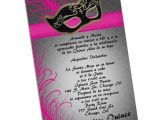 Invitation for A Quinceanera Masquerade Quinceanera Invitations