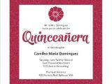 Invitation for A Quinceanera Modern Pink Faux Glitter Quinceanera Invitation
