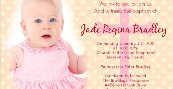 Invitation for Baptism Sample Baptism Invitation Wording Samples Wordings and Messages
