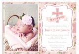 Invitation for Baptism Template Christening Invitation Card Sample Christening