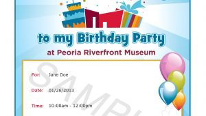 Invitation for Birthday Party Sample Delectable Birthday Invitation