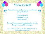 Invitation for Birthday Party Sample Sample Birthday Invitation Templates