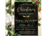 Invitation for Christmas Dinner Party Stylish Black White Dinner Party Invitations