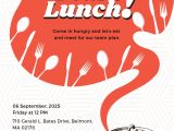 Invitation for Lunch Party Samples Free Team Lunch Invitation Template In Adobe Illustrator