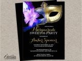 Invitation for Masquerade Party Sweet 16 Masquerade Invitation Diy Printable Mardi Gras Sweet