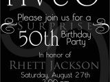 Invitation Ideas for 50th Birthday Party Surprise 50th Birthday Party Invitations Template Best