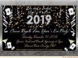 Invitation Ideas for New Years Eve Party Golden New Years Eve Party Invitations Count Down Clock 2019