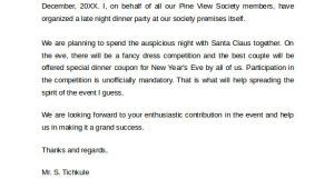 Invitation Letter Dinner Party Example Sample Invitation Letter 19 Download Free Documents In