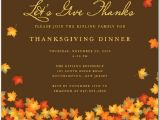 Invitation Letter for Thanksgiving Party Thanksgiving Invitations 365greetings
