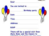 Invitation Letter to A Birthday Party Birthday Party Invitation Template Word