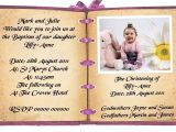 Invitation Message for Birthday and Baptism Birthday and Baptism Invitations First Birthday and