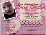 Invitation Message for Birthday and Baptism First Birthday and Baptism Invitations First Birthday