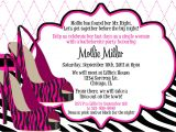 Invitation to A Bachelorette Party Wording Party Invitations Bachelorette Party Invitation Wording