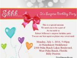 Invitation to A Birthday Party Message Surprise Birthday Party Invitation Wording Wordings and