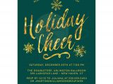 Invitation to A Company Christmas Party Corporate Holiday Party Invitations Golden Holiday Cheer