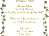 Invitation to A Graduation Party Invitation to A Graduation Party