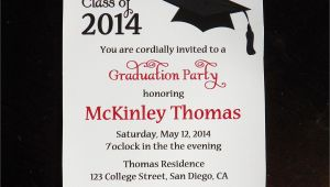 Invitation to College Graduation Party Wording College Graduation Party Invitations