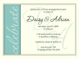 Invitation to Engagement Party Wording Engagement Party Invite Modern Aqua