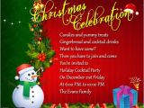 Invitation to the Christmas Party Family Christmas Party Invitation Wording