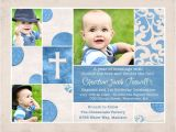 Invitation Wording for 1st Birthday and Baptism Chic Baptism or Christening Invitation Baby S S Cross