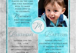 Invitation Wording for Baptism and Birthday Square Baptism Invitations Christenings 1st Birthday