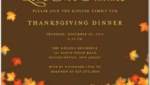 Invitation Wording for Thanksgiving Party Thanksgiving Invitations 365greetings Com
