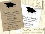 Invitation Words for Graduation Graduation Invitation Template with A Mortarboard Design
