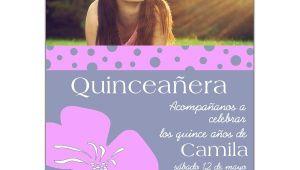 Invitations De Quinceanera Invitaciones Para Quinceaneras Con Flor Lila Paperstyle