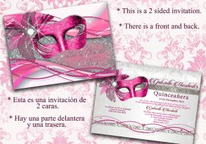 Invitations De Quinceanera Quinceanera Quinceanera Invitations Pink and Silver