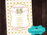 Invitations for 15 Birthday Party Polka Princess Birthday Party Invitations Sweet 15