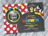 Invitations for 2 Year Old Party Mickey Mouse Birthday Invitation Design 2 Year Old Boy