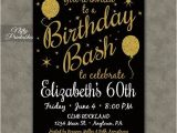 Invitations for 60 Birthday Party 60th Birthday Invitations Printable 60 Black Gold
