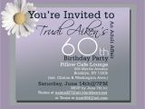 Invitations for 60 Birthday Party 60th Birthday Party Invitations