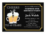 Invitations for 60 Birthday Party Cheers Surprise 60th Birthday Party Invitations