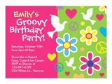 "Invitations for 60 Birthday Party Groovy 60 S Birthday Party Invitations 5"" X 7"" Invitation"