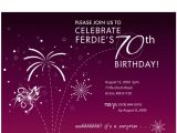 Invitations for 70th Birthday Party Templates 70th Birthday Invitations Ideas Bagvania Free Printable