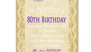 Invitations for 80th Birthday Surprise Party 80th Birthday Invitation Surprise Party Invite by